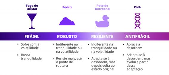 Diferenças entre ser Frágil, Robusto, Resiliente e Antifrágil